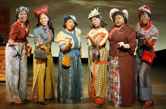 "Members of the cast of the first national tour of ""The Color Purple: The Musical about Love"" perform..."