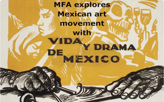 "(""Vida y Drama de Mexico,"" 1957, Alberto Beltrán; Image courtesy of the Museum of Fine Arts, Boston) ..."