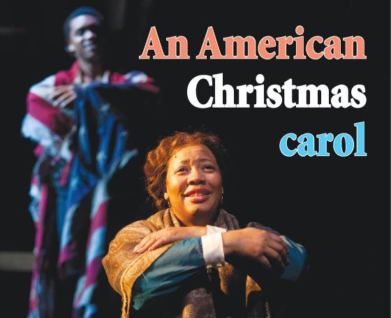 Delance Minefee (George's Ghost) and Jacqui Parker (Elizabeth Keckely) in the Huntington Theatre Company's production of Paula Vogel's A Civil War Christmas: An American Musical Celebration