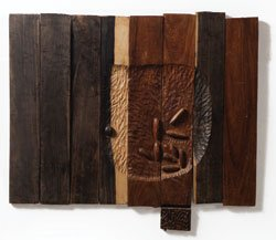 """""""Akua's Surviving Children"""" (1996) Wood and metal, dimensions variable."""