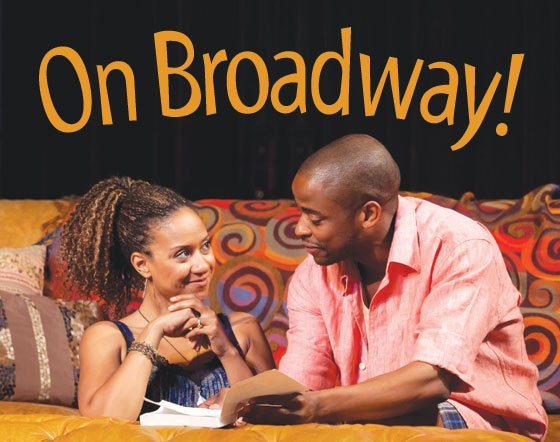 "Pictured (from l to r): Dulé Hill as Kent ""Spoon"" and Tracie Thoms as Taylor in ""Stick Fly.""..."
