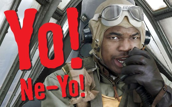 "(Photos courtesy of Lucasfilm Ltd.) Ne-Yo talks about his role as Andrew ""Smoky"" Salem in ""Red Tails,""..."
