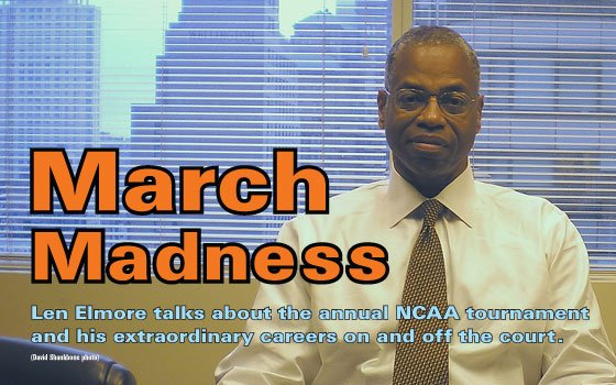 Kam WilliamsA man long associated with March Madness, Len Elmore is now appearing on CBS...