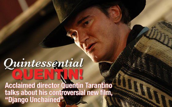 Quentin Tarantino hard at work...