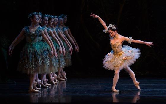 """Youthful Misa Kuranaga is Princess Aurora in Boston Ballet's """"The Sleeping Beauty,"""" at the Boston Opera..."""