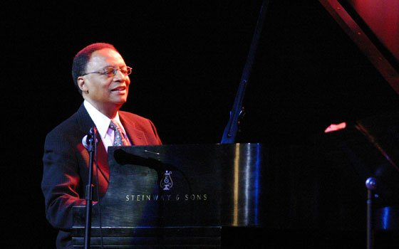 Pianist/Composer Ramsey Lewis charms the crowd with his music during the Legends of Jazz Tour at Worcester's Hanover...