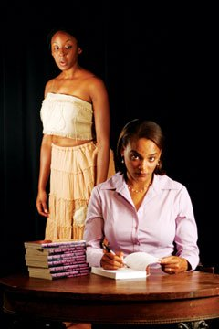 "Marvelyn McFarlane (left) and Kortney Adams play lead roles in Lydia Diamond's ""Voyeurs de Venus.""  The play runs throught Nov. 22."