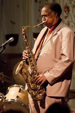 Alto saxophonist Houston Person performs at the Unitarian Universalist Church...