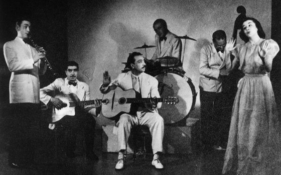 Legendary guitarist Django Reinhardt (center) and his Nouveau Quintet were among many jazz icons who performed regularly in...
