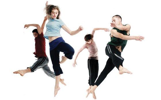 Doug Varone and Dancers' Alex Springer, Erin Owen, Julia Burrer and Ryan Corri perform one of their intricate vignettes...