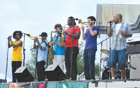 (L-R): Muse, Igmar Thomas, Phillip Young, Jesse Scheinin, John Egizi and Raydar Ellis. (Jean Connaughton photo)...