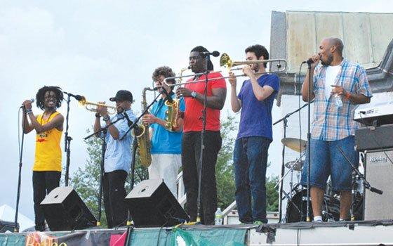(L-R): Muse, Igmar Thomas, Phillip Young, Jesse Scheinin, John Egizi and Raydar Ellis. (Jean Connaughton photo)...