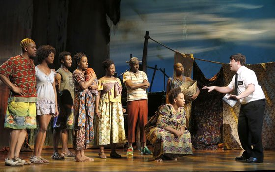 """""""The Book of Mormon"""" brings its first national tour to the Boston Opera House. (Joan Marcus..."""