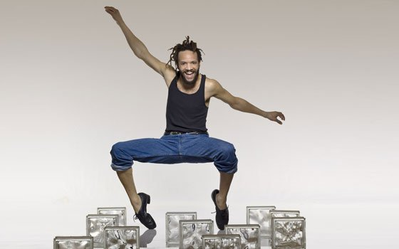 "Tap artist Savion Glover brought his latest production ""SoLe Sanctuary"" to Boston. (Lois Greenfield photo) ..."