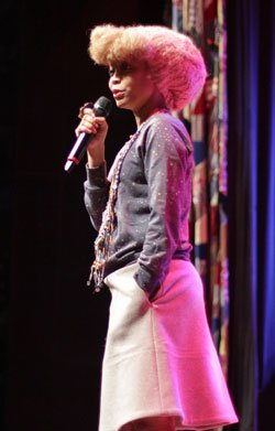 Erykah Badu performs in Dallas on Jan. 21. The...