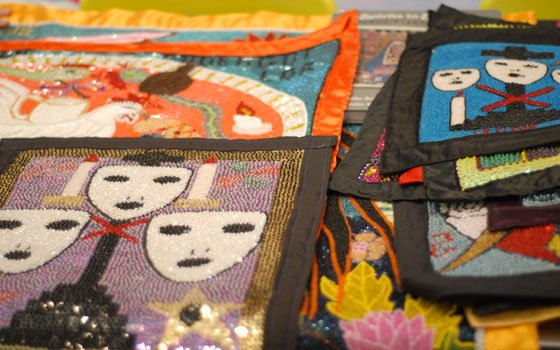 "Haitian Voudou flags from artist the collection of Nancy Josephson, author of the book ""Spirits in Sequins: Vodou..."