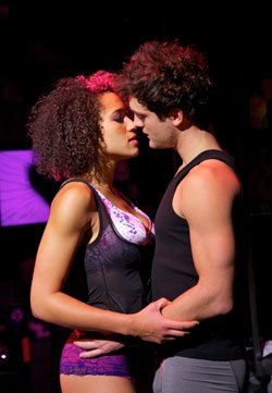 "Gabrielle McClinton (Whatserame) and Van Hughes (Johnny) in ""American Idiot.""..."