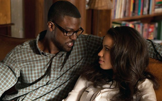 "Brice (Lance Gross) and Judith (Jurnee Smollett-Bell) in Tyler Perry's ""Temptation."""