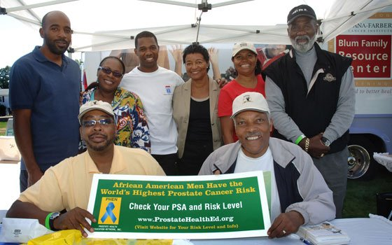 Prostate Screening Tent at Mattapan Community Health Center's annual Health Care Revival.