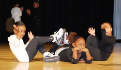 Mahkyla Strong, Aniya Thompson and Sania Hogan (from l to r) perform a hip hop inspired dance as part of The Salvation Army Kroc Center's Winter Arts Showcase last month. The girls were part of the Winter Program Intensive's December Dance Divas class for ages 4-6 at the Kroc Center.