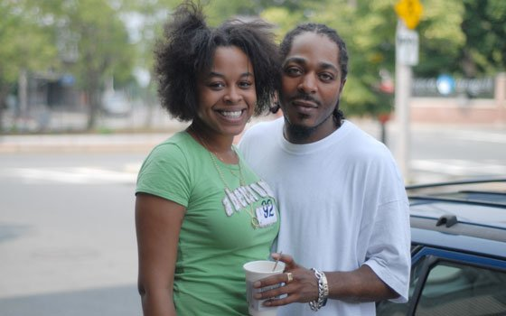 Shaneka Johnson and her boyfriend, Russell Allen, were passing by Centre Street in Jamaica Plain when the Banner...