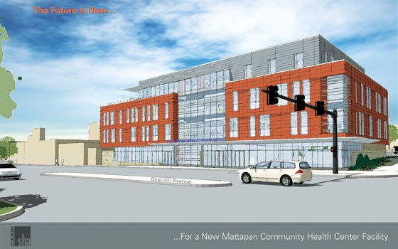 The new 50,000 square foot Mattapan Community Health Center (MCHC) facility will be located on Blue Hill Avenue...