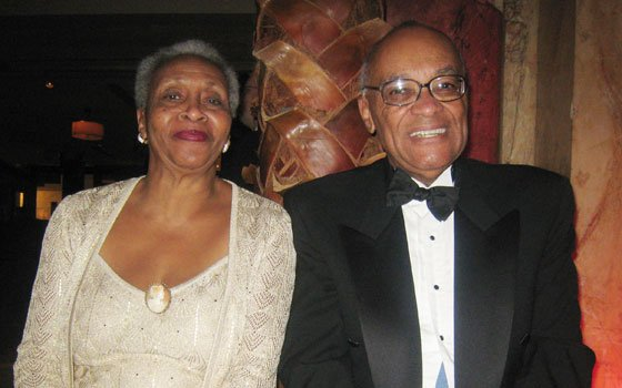 Kathy and Hubie Jones of Newton attend the Eastern Inaugural Ball. Mrs. Jones said she predicted Obama would be the next president of the United States back in 2004, when he spoke at the Democratic National Convention in Boston.
