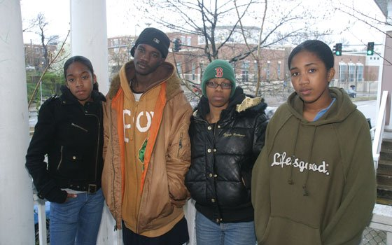 (L-R) Jannea, Maurice and Vonita St. Cyere were arrested for trespassing and other crimes...