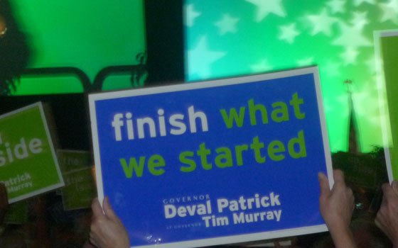 Gov. Patrick makes it clear during state Democratic Convention that he wants to finish the job he started during a...