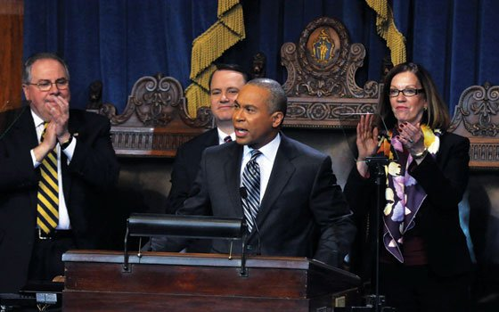 During second inaugural address, Gov. Deval Patrick challenges all to bear 'generational responsibility' and find ways to solve problems in...