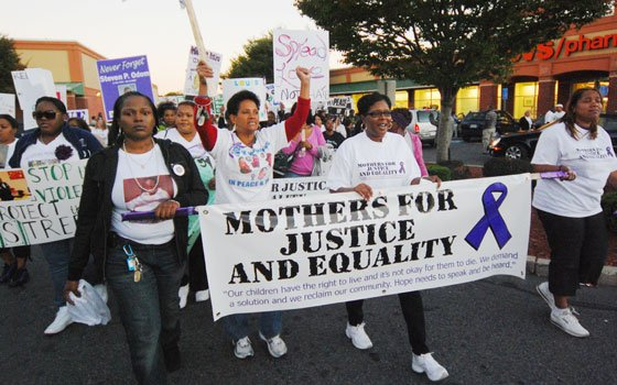 Mothers for Justice and Equality (MJE) held a kick-off rally on Oct. 8, marching from Grove Hall to Morton...