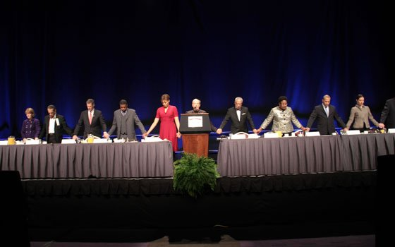 Local politicians and community members gathered for the 42nd Annual Martin Luther King Jr. Breakfast in Boston on Jan....
