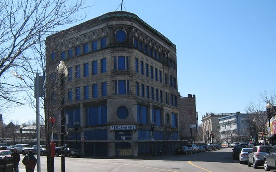 The facade of the long-vacant Ferdinand building will be...