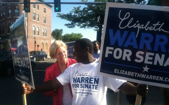 U.S. Senate candidate Elizabeth Warren has diversified her campaign senior staff to reflect the state's...