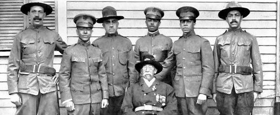 Civil War veteran William B. Gould and his sons: (L to R) Lawrence, James, William Jr.,...