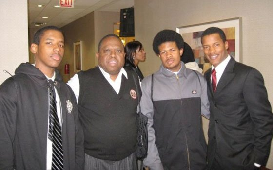 Members of the Academy of Public Service debate team meet Nate Parker, one of the stars of the...