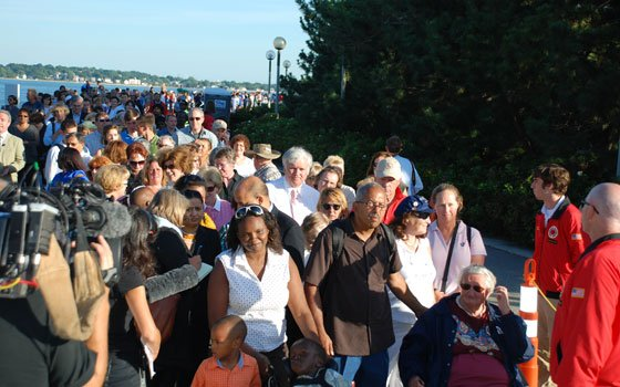 Throngs of mourners flocked to the John F. Kennedy Presidential Library and Museum in Dorchester to pay their...
