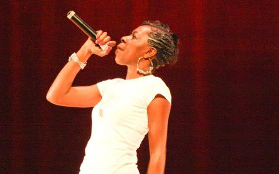 "Bay Holla performs her track ""You Hurt Me (Paula's Song)."" (Joanna Marinova photo) ..."