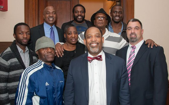 "Cast members from the popular TV drama series ""The Wire"" visited Professor Charles Ogletree Jr.'s class..."