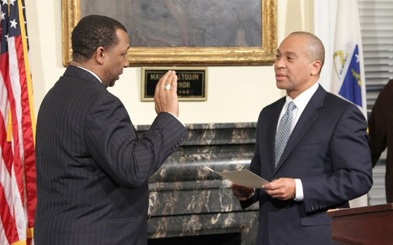 Steven Tompkins was sworn in as Suffolk County Sheriff on Jan. 22 by Gov. Deval Patrick...