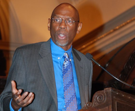Geoffrey Canada, president and CEO of Harlem Children's Zone and passionate advocate for education reform, speaks before Phillips...