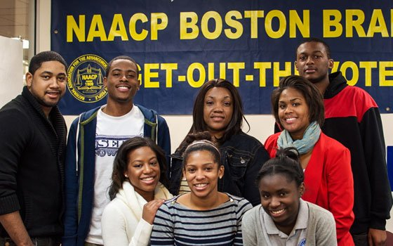 An afternoon of college prep ends with students standing tall with their Boston NAACP mentors....