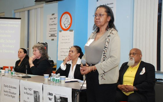 Nearly 200 concerned parents, educators and activists gathered at Roxbury Community College on Thursday, May 14, 2009, for...