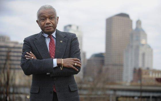 In this Jan. 27, 2010 photo, former Hartford Mayor Thirman Milner poses for a portrait in Hartford, Conn. Milner...