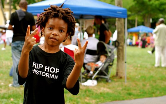 MC D, also known as Dakarai Washington, performed original songs and entertained the crowd at the Hip Hop...