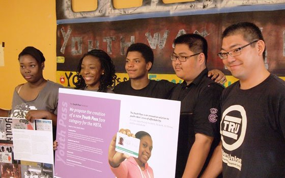 Youth organizers Deandra Atherly, Amatullah Mervin, Devonte Jordan, Tai Tang and Lee Matsueda were among those who met with...