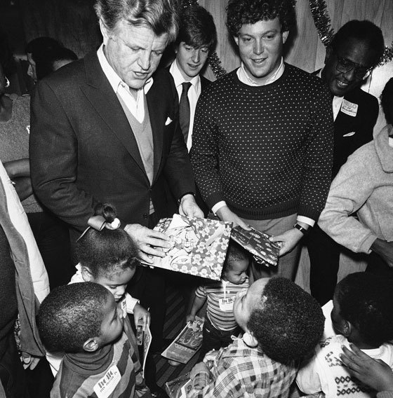 Fighting for equality was part of the family businessSen. Edward M. Kennedy (left) and his sons Patrick...