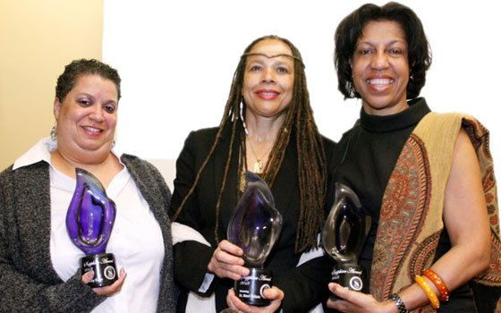 (L to R) Cindy Diggs, founder of Peace Boston (Sapphire Honoree – Social Action); Dr. Nteri...