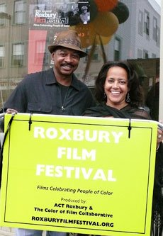 Actor and producer Robert Townsend (left) joins Lisa Simmons, founder and director of the...