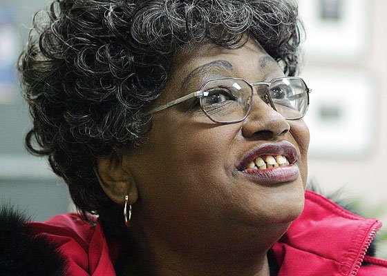 Claudette Colvin talks to reporters at Booker T. Washington Magnet School in Montgomery, Ala. in this Feb. 3,...